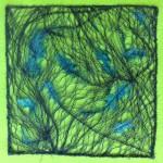 Tekstile billeder 3 Textile collage